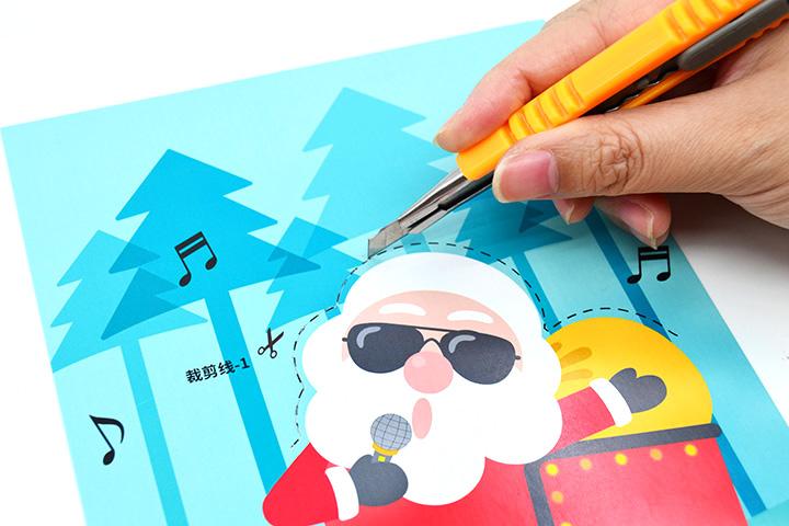 趣味纸电路制作套件圣诞节主题